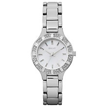 Buy DKNY NY8485 Women's Chambers Mother of Pearl Diamante Watch, Silver Online at johnlewis.com