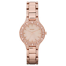 Buy DKNY NY8486Women's Mother of Pearl Diamante Dial Watch, Rose Gold Online at johnlewis.com