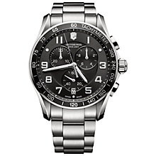 Buy Victorinox 241650 Men's Chrono Classic XLS Watch, Silver Online at johnlewis.com