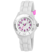 Buy Tikkers TK0084 Childrens' Silicon Watch, White Online at johnlewis.com