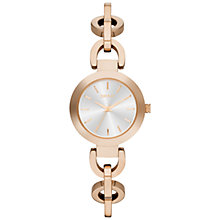 Buy DKNY Stanhope Women's Round Dial Chain Bracelet Watch Online at johnlewis.com
