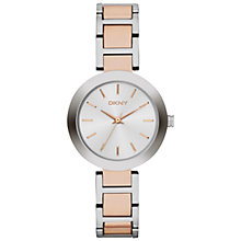 Buy DKNY NY2136 Stanhope Women's Two-Tone Bracelet Strap Watch, Silver / Rose Gold Online at johnlewis.com