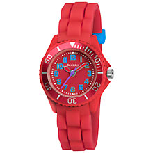 Buy Tikkers TK0079 Childrens' Silicon Watch, Red Online at johnlewis.com