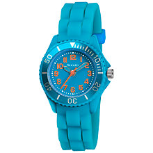 Buy Tikkers TK0081 Childrens' Silicon Watch, Blue Online at johnlewis.com