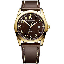 Buy Victorinox 241646 Infantry Mechanical Watch, Brown Online at johnlewis.com