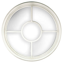 Buy Ashbourne Barley Mirror, Cream, Dia.70cm Online at johnlewis.com