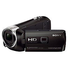 "Buy Sony HDR-PJ240E HD 1080p Camcorder, 9.2MP, 27x Optical Zoom, OIS, Projector, 2.7"" LCD Screen, Black Online at johnlewis.com"