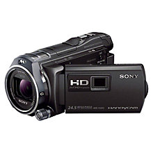 "Buy Sony HDR-PJ810E HD 1080p Camcorder, 24.5MP, 12x Optical Zoom, OIS, NFC, Wi-Fi, Projector, 3"" Touch Screen, Black Online at johnlewis.com"