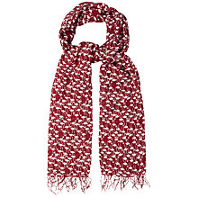 Buy White Stuff Graphic Flamingo Print Scarf, Darkest Rouge Online at johnlewis.com