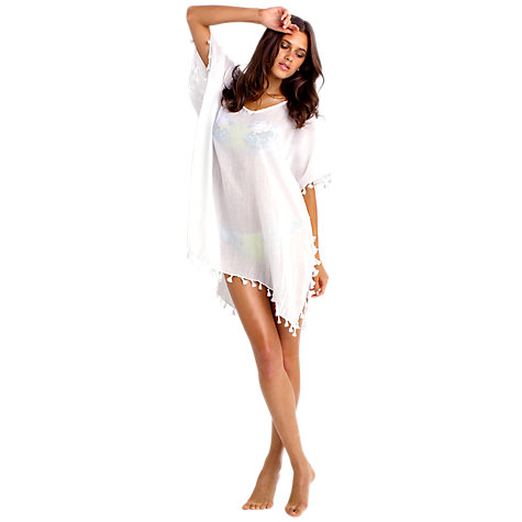 Buy Seafolly Coastline Amnesia Kaftan, White Online at johnlewis.com