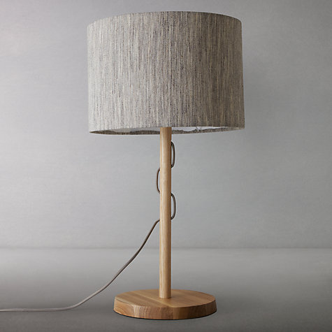 Buy John Lewis Francis Wood Threaded Table Lamp Online at johnlewis.com