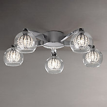 Buy John Lewis Claire Beaded Semi Flush Ceiling Light, 5 Arm Online at johnlewis.com