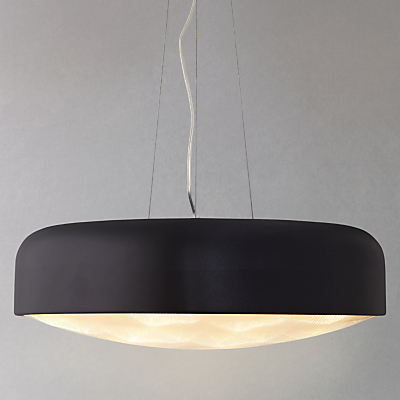 John Lewis Anders with Diffuser LED Ceiling Light, Large, Black