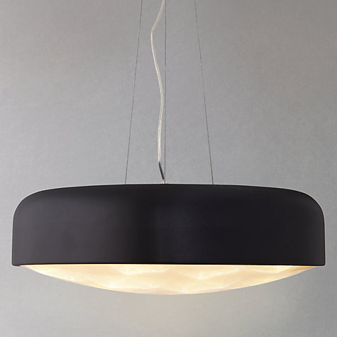 Buy John Lewis Anders with Diffuser LED Ceiling Light, Large, Black Online at johnlewis.com