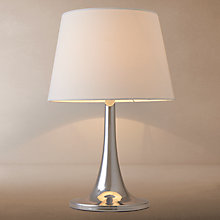 Buy John Lewis Flitwick Chrome Touch Table Lamp Online at johnlewis.com