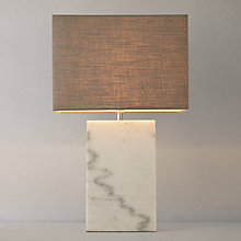 Buy John Lewis Artemis Marble Block Table Lamp Online at johnlewis.com