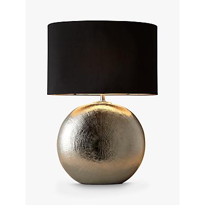 John Lewis Benjamin Chromed Ceramic Table Lamp