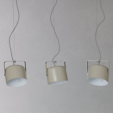 Buy John Lewis Bjorn Triple Flood Ceiling Light, Putty Online at johnlewis.com