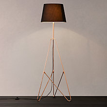 Buy John Lewis Albus Floor Lamp, Black/Copper Online at johnlewis.com