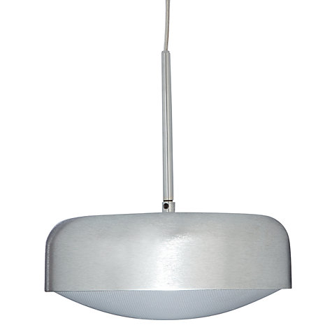 Buy John Lewis Anders with Diffuser LED Ceiling Light, Silver, Small Online at johnlewis.com