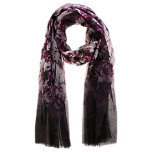 Buy Coast Bowery Print Dip Dye Scarf, Black Online at johnlewis.com