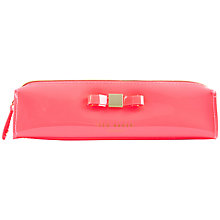Buy Ted Baker Pam Bow Pencil Case, Pink Online at johnlewis.com