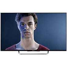 "Buy Sony Bravia KDL50W8 LED HD 1080p 3D Smart TV, 50"" with Freeview/Freesat HD & 2x 3D Glasses, Black with HT-CT60BT Bluetooth Sound Bar Online at johnlewis.com"