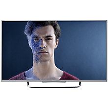 "Buy Sony Bravia KDL50W8 LED HD 1080p 3D Smart TV, 50"" with Freeview/Freesat HD, Silver with HT-CT370 Sound Bar & Subwoofer, Silver Online at johnlewis.com"