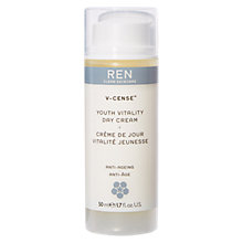 Buy REN V-Cense Youth Vitality Day Cream, 50ml Online at johnlewis.com