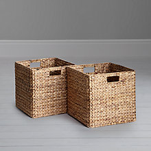 Buy John Lewis Stowaway Water Hyacinth Baskets, Set of 2 Online at johnlewis.com