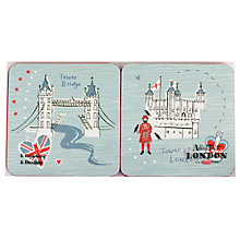 Buy Alice Tait At London Coasters, Set of 4 Online at johnlewis.com