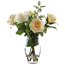 Buy Peony Rose and Snowberries In Vase, White, Small Online at johnlewis.com
