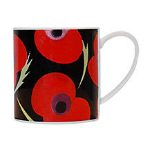Buy Nick Munro Poppy Print Mug, Black Online at johnlewis.com