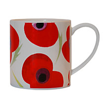 Buy Nick Munro Poppy Print Mug, White Online at johnlewis.com