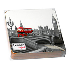 Buy Alice Tait Red Bus Coasters, Set of 4 Online at johnlewis.com
