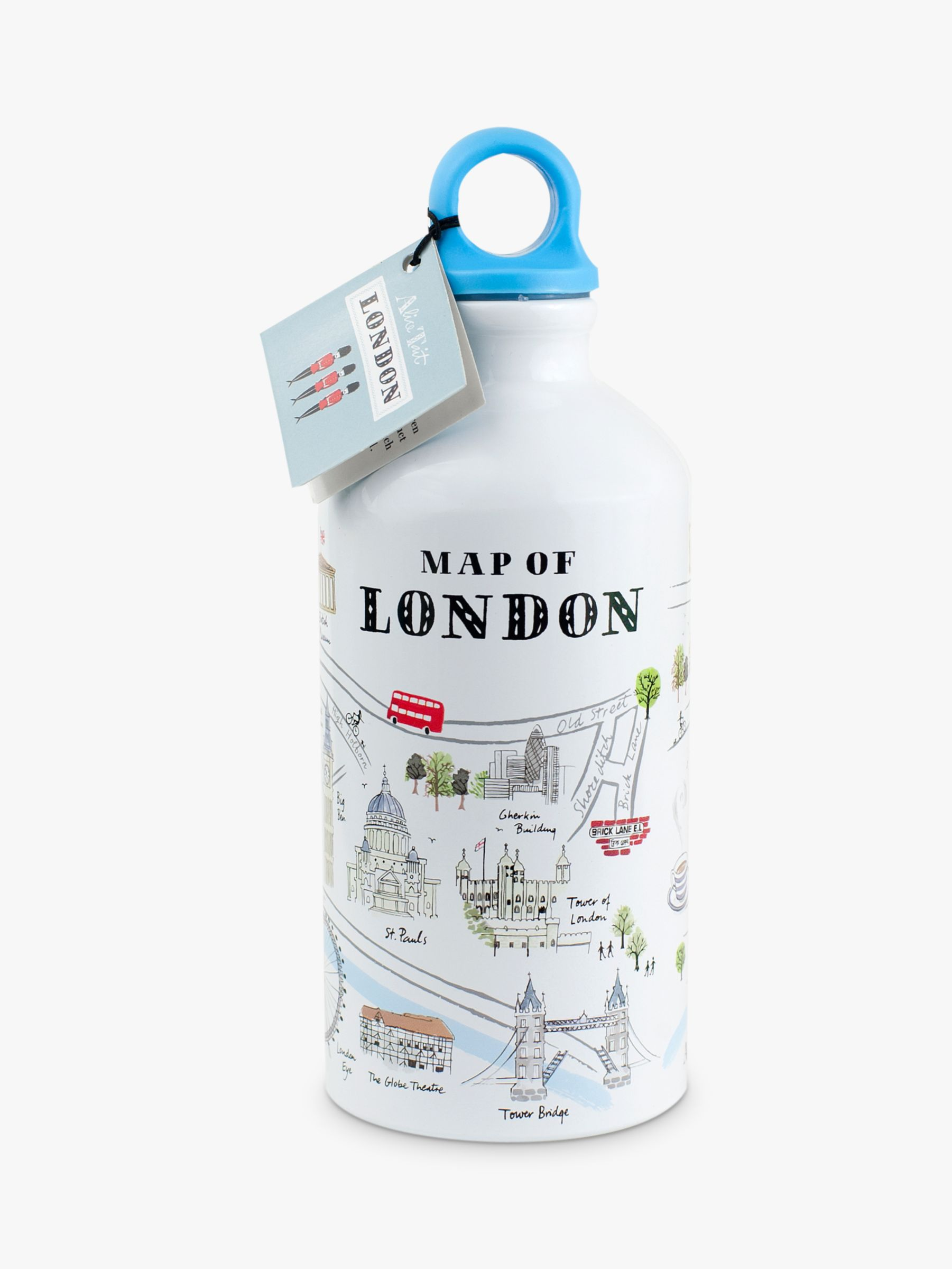 Alice Tait Alice Tait Map Water Bottle, 500ml, Multi