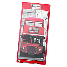 Buy Alice Tate Red Bus Magnetic Notepad, Multi Online at johnlewis.com