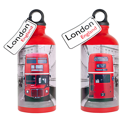 Alice Tait London Bus Water Bottle, 500ml, Red