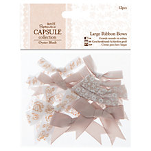 Buy Docrafts Papermania Capsule Collection Large Ribbon Bows, Pack of 12 Online at johnlewis.com