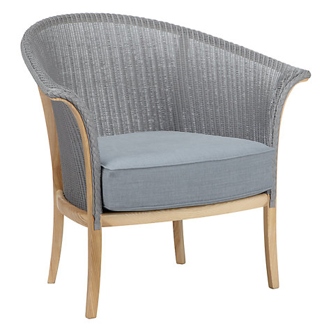 Buy Lloyd Loom of Spalding Chair, Light Blue Online at johnlewis.com