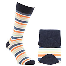 Buy Gant Multi Stripe Socks, Pack of 2, One Size, Multi/Dark Blue Online at johnlewis.com