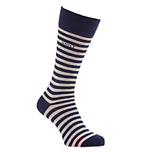 Buy Gant Bar Stripe Sock, One Size, Grey Online at johnlewis.com