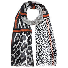 Buy Hobbs Animal Print Scarf, Ginger Online at johnlewis.com