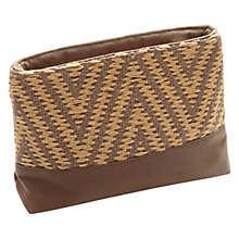 Buy East Woven Zig Zag Make Up Bag, Bamboo Online at johnlewis.com