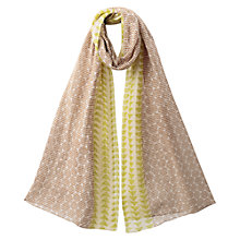 Buy East Herringbone Print Scarf, Elephant Online at johnlewis.com