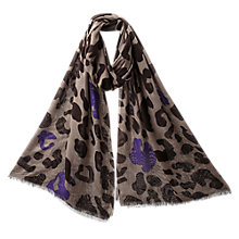 Buy East Animal Print Scarf, Elephant Online at johnlewis.com