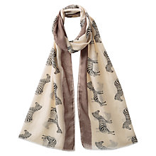 Buy East Zebra Print Scarf, Elephant Online at johnlewis.com