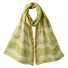 Buy East Pattern Lightweight Scarf, Kiwi Online at johnlewis.com