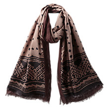 Buy East Mara Silk Layer Scarf, Elephant Online at johnlewis.com