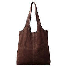 Buy East Blanket Stitch Tote Bag, Chocolate Online at johnlewis.com